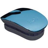 ikoo Pocket Detangling Hair Brush - Black/Pacific Metallic