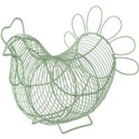 Eddingtons Chicken Egg Basket - Green - Chicken Gifts