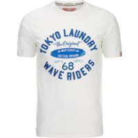Tokyo Laundry Mens Wave Riders T-Shirt - Ivory - XL