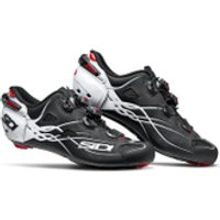 Sidi Shot Carbon Road Shoes - Matt Black/Gloss White - EU 46 - Matt Black/Gloss White