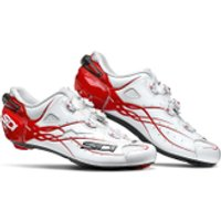 Sidi Shot Carbon Cycling Shoes - White/Red - EU 47/UK 10.5 - White/Red