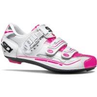 Sidi Genius 7 Womens Cycling Shoes - White/Pink Fluro - EU 36/UK 3 - White/Pink