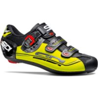 Sidi Genius 7 Mega Cycling Shoes - Black/Yellow Fluro - EU 43.5/UK 8 - Black/Yellow