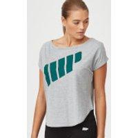 Logo Scoop T-Shirt - S - Grey