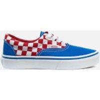 Vans Kids Era Checkerboard Trainers - Racing Red/Imperial Blue - UK 1 Kids