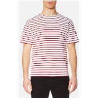 Armor Lux Men's Doelan T-Shirt - White/Dark Red - L - Red