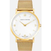 larsson and jennings lugano 38mm gold plated chain metal watch  gold/white/gold