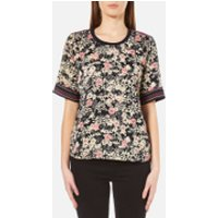 Maison Scotch Womens Silky Feel Top with Placement Prints - Multi - 1/UK 8