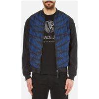 Versace Jeans Mens Leopard Printed Bomber Jacket with Back Print - Black - IT 52/XL - Black