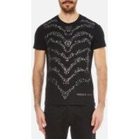 Versace Jeans Mens Studded Wave Detail T-Shirt - Black - XL - Black