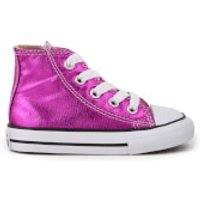 Converse Toddlers' Chuck Taylor All Star Hi-Top Trainers - Magenta Glow/Black/White - UK 2 Toddlers