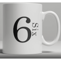 Alphabet Ceramic Mug - Number 6