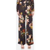 Gestuz Womens Cally Floral Print Wide Leg Trousers - Multi Colour Flower - EU 36/UK 8 - Multi