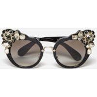 Miu Miu Women's Couture Cat Eye Sunglasses - Black
