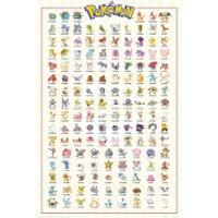 Pokemon Kanto 151 Maxi Poster 61 x 91.5cm - Pokemon Gifts