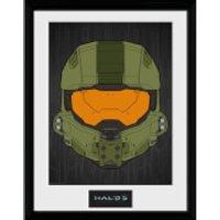 Halo 5 Mask Framed Photographic - 16 x 12