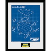 Space Invaders Table Framed Photographic - 16 x 12