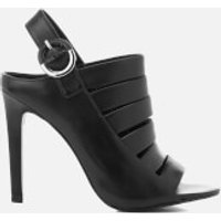 Kendall + Kylie Womens Mia Strappy Leather Heeled Sandals - Black - UK 5/US 7 - Black