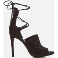 Kendall + Kylie Women's Estella Suede Strappy Heeled Sandals - Black - UK 4/US 6 - Black