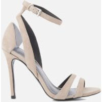 Kendall + Kylie Women's Goldie Suede Heeled Sandals - Sand/Clear - UK 3/US 5.5 - Beige