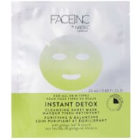 FACEINC by nails inc. Instant Detox Cleansing Sheet Mask - Purifying and Balancing