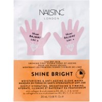 FACEINC by nails inc. Shine Bright Moisturising and Anti-Ageing Glove Masks - Deeply Hydrating, Brig