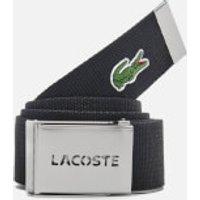 Lacoste Mens Made in France Adjustable Belt - Black - 110cm/L