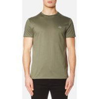 Lacoste Mens Basic Crew Neck T-Shirt - Army - 5/L - Green