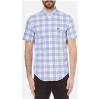Lacoste Mens Short Sleeve Check Shirt - Methylene/Flower Purple-R - S - Multi