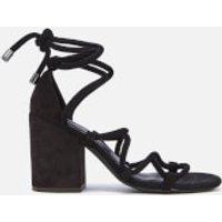 Senso Women's Wyatt Suede Lace Up Blocked Heeled Sandals - Ebony - UK 3 - Black