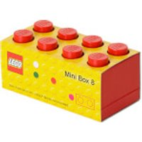 Mini Ladrillo de almacenamiento LEGO (8 espigas) - Rojo