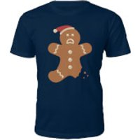 Ginger Bread Christmas T-Shirt - Navy - XL