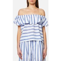 Paisie Womens Stripe Off the Shoulder Top - Multi - S - Multi