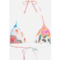Mara Hoffman Women's Arcadia Tie Bikini Top - White/Pink - M - White/Pink