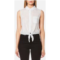 Guess Womens Clara Shirt - Dizzy Stripes - L