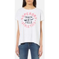 Superdry Womens Trackster T-Shirt - Ice Marl - L - White
