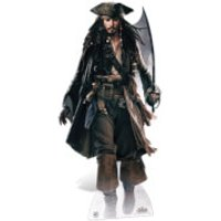 Pirates of the Caribbean Captain Jack Sparrow with Sword Life Size Cut Out - Pirates Gifts