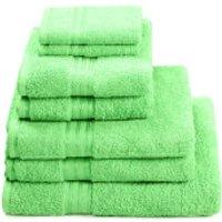 Restmor 100% Egyptian Cotton 7 Piece Supreme Towel Bale Set (500gsm) - Lime - Towel Gifts
