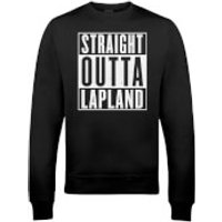 Straight Outta Lapland Christmas Sweatshirt - Black - XXL