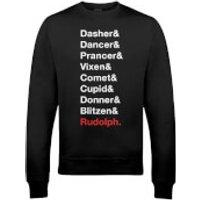 Santa's Reindeer Christmas Sweatshirt - Black - L - Black
