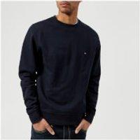 Tommy Hilfiger Men s Basic Crew Neck Long Sleeve Sweatshirt   Midnight   M   Blue