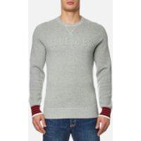 Tommy Hilfiger Mens Falko Crew Neck Sweatshirt - Cloud Heather - XL - Grey