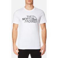 The North Face Mens Woodcut Dome T-Shirt - White/TNF Black - XXL - White