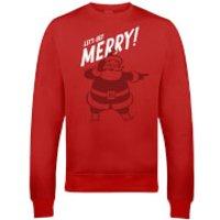 Get Merry Christmas Sweatshirt - Red - XXL - Red