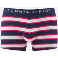 Tommy Hilfiger Mens Stripe Trunk Boxers - Raspberry - XL - Pink