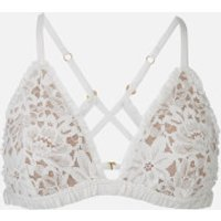 For Love and Lemons Womens Sage Lace Bra - Ivory - M - White