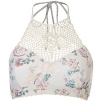 MINKPINK Womens Secret Garden Crochet Apron Bikini Top - Multi - L