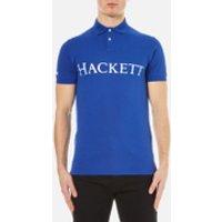 Hackett London Mens Chest Logo Polo Shirt - Bright - S - Blue