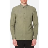Folk Men's Long Sleeve Shirt - Soft Military - S - Green