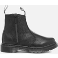 Dr. Martens Womens 2976 Aunt Sally Leather Zip Chelsea Boots - Black - UK 4 - Black